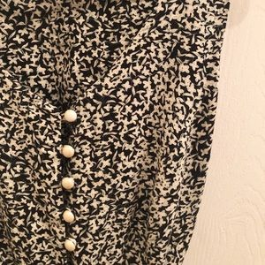 Vintage Mini Dress w/ Pearl Button-down Detail